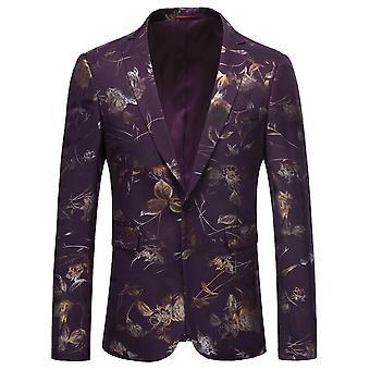 Allthemen Men's Floral Suit Jacket Slim Fit Party Wedding Blazer Jackets