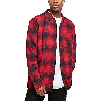 Urban Classics - CHECKED FLANELL Grunge Shirt Red