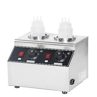 Electric Sauces Warmer Commercial Bottle Hot Cheese Chocolate Heater Stainless