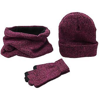 Dámske zimné klobúky, šatky, rukavice kit, móda pletené