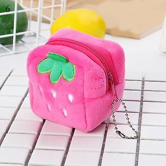 New Cute Cow Print Plush Monede Poșete Mini Portofel Bag Card Titular Pocket Femei