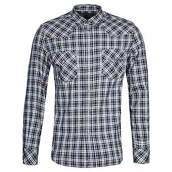 Diesel S-East-Long-O Black & White Check Shirt