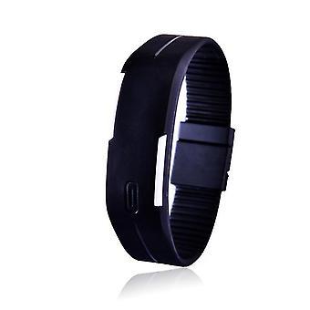 Nye charmerende armbåndsure Unisex Mænd's Women's Silicone Led Sports Armbånd