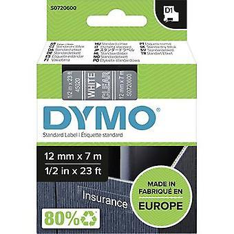 Merkintöjä nauha DYMO D1 45020 nauhan väri: läpinäkyvä fontin väri: valkoinen 12 mm 7 m