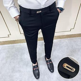 الربيع الرسمية الرجال & ق دعوى أزياء عارضة السراويل الأعمال ضئيلة اللباس