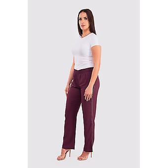 Ferial women's wide-leg trousers in plum