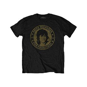 The Rolling Stones Kids T Shirt Keith for President Official Black Ages 1-12 yrs