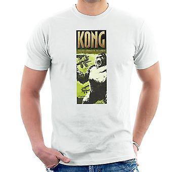King Kong siendo enjaulado por Biplanes La 8a Maravilla del Mundo Hombres's Camiseta