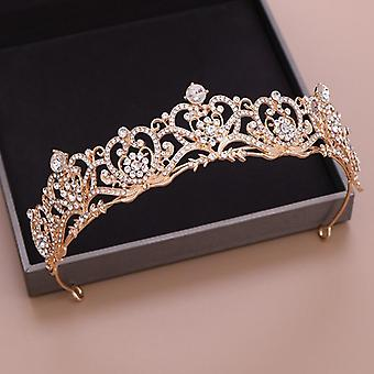 Gelin için düğün tacı, başlık barok taç ve taç modası, prenses