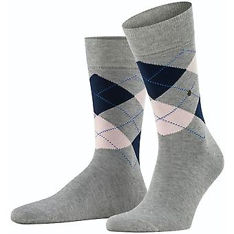 Burlington King Socks - Light Grey/Navy