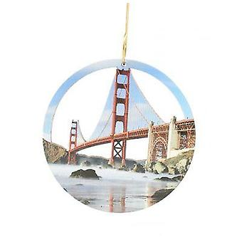 جولدن جيت جسر ورقة زخرفة
