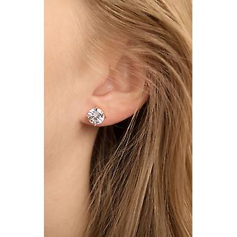 Rose Gold And Crystal Stud Earrings