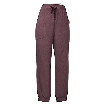 Cuddl Duds Women's Petite Pants Comfortwear Patch Pocket Purple A381715
