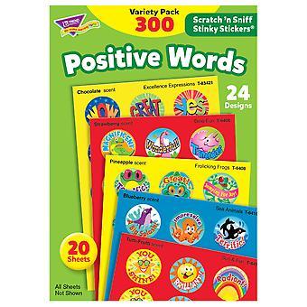 Palabras positivas Stinky Stickers Paquete de variedades, 300 ct
