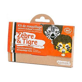 Children's Makeup Kit - Zebra and Tiger Bio 1 unit