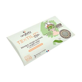 Face mask with green clay 3 units