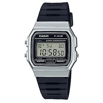 Casio F-91wm-7aef Silver & Black Resin Digital Watch