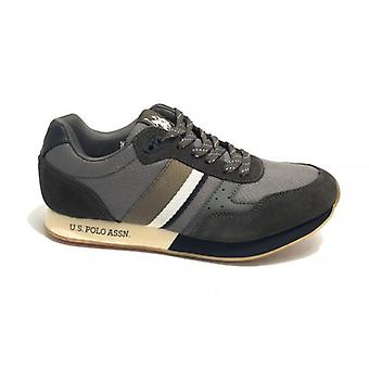 Sneaker Running Us Polo Mod. Julius In Suede Green Army/ Men's Grey Fabric U20up08