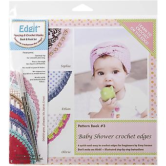 Ammees Babies Edgit Piercing Crochet Hook & Book Set-Baby Shower Crochet Edges