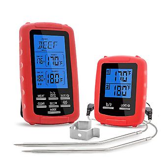 Wireless Digital Thermometer With Dual Channels Lcd Screen -20-300℃ Bbq Grill Thermometer