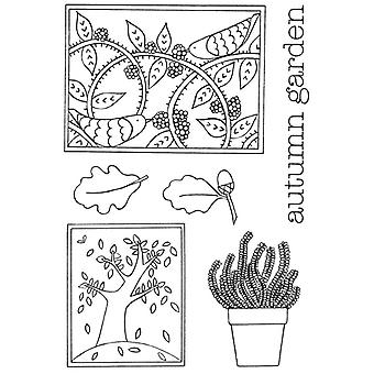 Personal Impressions Beth Hughes Autumn Garden Clear Stamp Set