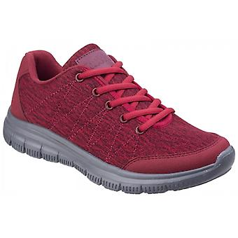 Fleet & Foster Elanor Ladies Quilted Trainers Red