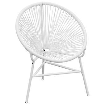 vidaXL Garden Chair Poly Rattan White
