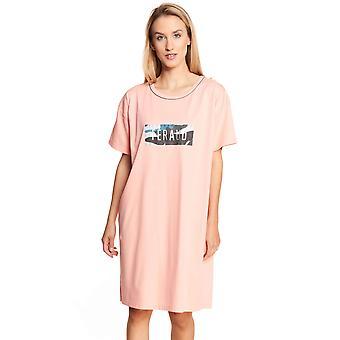 Féraud Casual Chic 3211042-10013 Women's Peach Motif Cotton Nightdress