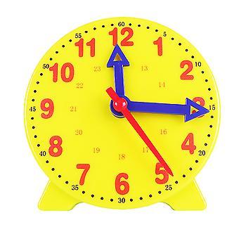 학생들이 3바늘 연계 시계 페이스 모델 수학 교육용 10cm 3바늘 시계