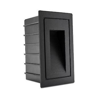 Lámpara de escalera integrada de aluminio led de 5W (negro)