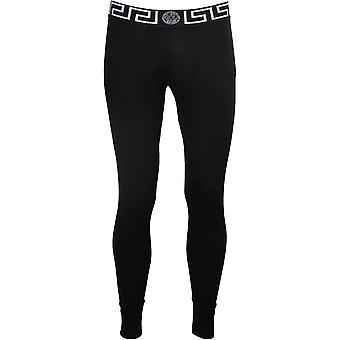 Versace Iconic Long Johns, Black/white