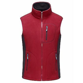 Men's Autumn Winter Fleece Soft Shell Vests, Warm Waistcoat, Mens Casual