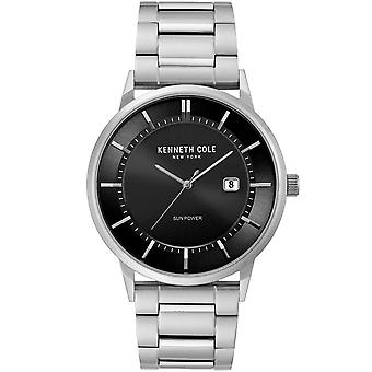 Kenneth Cole Kc50784006 Modern Classic Solar Black & Silver Stainless Steel Mens Watch