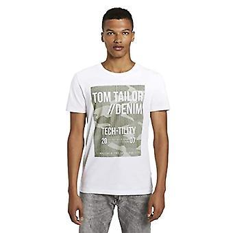 TOM SKRÄDDARE Denim Langarm Print T-Shirt, 20000-vit, XL Herr (1)