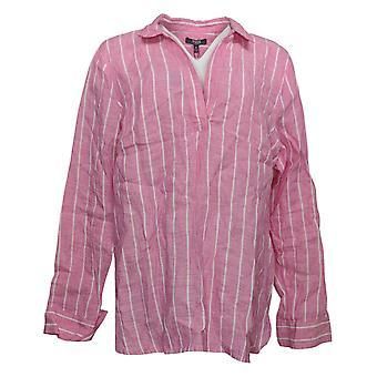 NYDJ Lino superior de mujer Jersey túnica w / Mangas largas rosa A372192