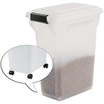 , luftdichte Futtertonne / Futtercontainer / Futterbehälter ATS-M, für Hundefutter, Kunststoff,