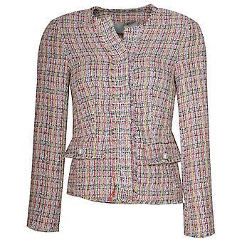 Oui Multicoloured Knit Edge To Edge Jacket