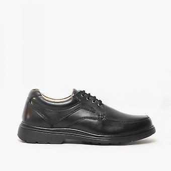 Roamers Dermot Zapatos extra anchos de ajuste negro