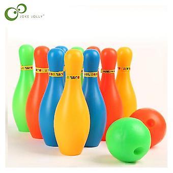 Höjd bowlingflaska set 5.5cm diameter set färgglada sportleksak