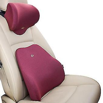 Niskatuen punainen korkeatiheyksinen muistivaahto ergonominen istuimen selkänojatyyny lihaskipuun ja jännityksen lievittämiseen x4963