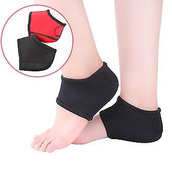 L 2pcs fod wrap ankelpleje smerter bue støtte hæl beskyttende sokker cai1556