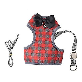 M 25*37*26cm red pet traction rope small dogs and cats breathable vest chest back£¬pet collars & harnesses az16954
