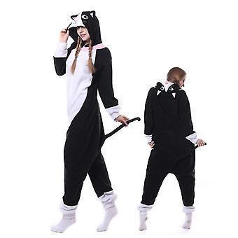 Regenboghorn Black Cat Costume Pajama Onesie Kigurumi Jumpsuit Animal Hoodie