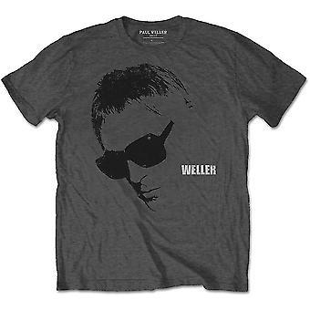 Paul Weller - Glasses Picture Men's X-Large T-Shirt - Charcoal Grey