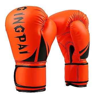 Fluorescent orange boxing gloves pu leather adult boxing gloves dt911