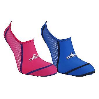 SwimTech Pool Socks Junior J7-9 Blue