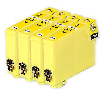 4 cartouches d'encre jaune pour remplacer Epson T1634 (série 16XL) Compatible/non OEM de Go Inks