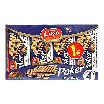 Chocolat Biscuits Lago Poker (4 x 45 g)