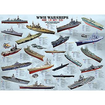 Eurographics Warships Warships Puzzle (1000 pièces)