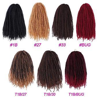 Συνθετικό βελονάκι μαλλιά ombre marley πλεξούδες πλέκει afro μαλλιά βελονάκι πλεξούδες μαλλιά επεκτάσεις καφέ μαύρο μωβ